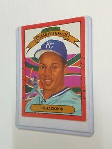 Rare Bo Jackson Donruss Diamond Kings 1989 Kansas City Baseball Card