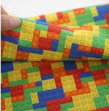 Vivid Lego Block Patterned Fabric made in Korea By the Yard