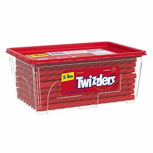 Twists Strawberry Flavored Chewy Candy, Bulk, 80 oz Container
