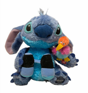 """Disney Store Stitch Nature Walk Plush with Sound 10"""" Holiday Exclusive Rare"""