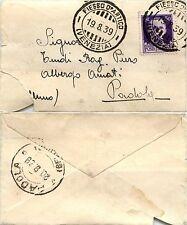 REGNO-IMPERIALE 50c(251) su bustina FIESSO D'ARTICO->Padola 19.8.1939