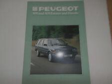 Peugeot 305 505 Estate 1984.brochure. Collectors condition