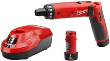 Cordless Hex Screwdriver 1/4 in. Milwaukee M4 4-Volt Lithium-Ion 2-Battery Kit