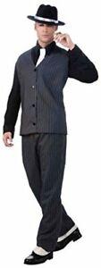 Men's Roaring 20's Pinstripe Suit Gangster, Black, Size One Size T5Uo