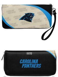 Carolina Panthers NFL Curve Zip Organizer Ladies Wallet