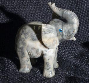 Elephant Carving Fetish Goldstone 3 inch Carved Animal Healing Stone Figurine #e2
