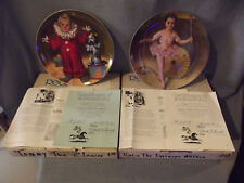 Children's Circus Collection Tommy Clown & Katie Tightrope Walker Knowles Plates