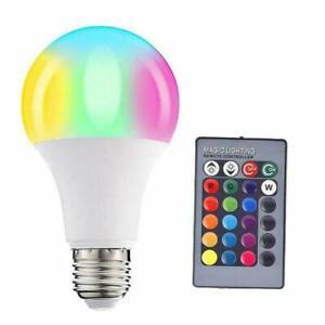 1/4X E27 RGB Colour Changing Light Bulb Remote Control,Smart Lights 16 Color tw
