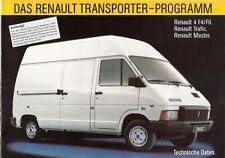 Prospekt / Brochure Renault Transporter Technische Daten 1985