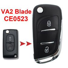 2 Button  Modified Car Key Fob Shell For Peugeot 307 308 3008 VA2 Blade CE0523