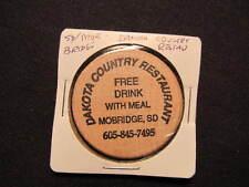 Mobridge, South Dakota Wooden Nickel token - Dakota Country Restaurant Wood Coin