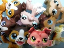 Littlest Pet Shop Set Lot 2 Random Collie Puppy Dogs Authentic Lps and Gift Bag