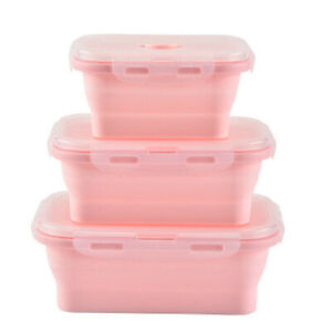 Food Storage Containers Bento Kitchen Microwave Collapsible Silicone Lunch Boxes