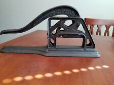 "ANTIQUE ERIE GRISWOLD CAST IRON TOBACCO PLUG CUTTER 16"" VERY RARE EXCELLENT 1883"