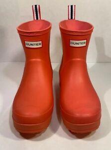 Hunter Womens Original Play Boot Short Rain Boots Orange Zinc 9 M US
