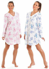 Floral Polyester Nightdresses Shirts Knee Length Women's Lingerie & Nightwear
