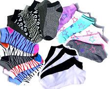 Damen Sneaker Socken Füßlinge Sport Baumwolle 1,3,6,12 Paar Strümpfe Zebra Leo
