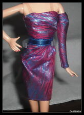 Dress Mattel Barbie Doll The Look City Shine Purple Evening Cocktail Gown