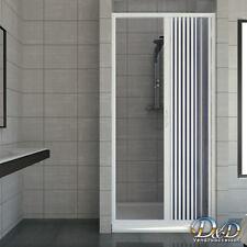 Porta box doccia a nicchia 90 cm parete in Pvc a soffietto da 1 lato su misura