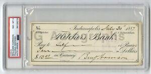 Benjamin Harrison U.S. President Autographed 1887 Check PSA/DNA Slabbed