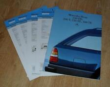 Mercedes T Series Estate Brochure 1986 - 200T 230TE 300TE 250TD W124