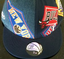 New UNK NBA Multi Team Basketball Fitted Cap - Size 7 3/8 - Navy