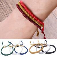 1pc Tibetische buddhistische Knoten Glück Seil Armband einstellbar Modeschmuck