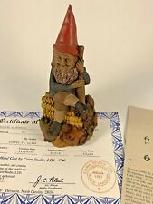 Ty 1990 Tom Clark Gnome Signed Figurine 5127 Coa & Story 25