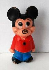 """Vintage Mickey Mouse Walt Disney Doll Toy Plastic Figure Made in Hong Kong 5.5"""""""