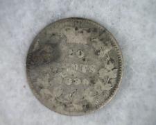 CANADA 10 CENTS 1890 ERROR SILVER COIN  (Stock# 401)