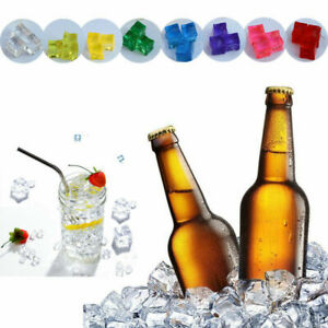 Acrylic Ice Cubes Artificial Fake Plastic Clear/Colorful Crystal Display Decor