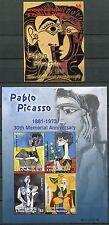 Granada granadinas 2003 picasso pinturas pinturas Art 4016-19 + bloque 580 ** mnh