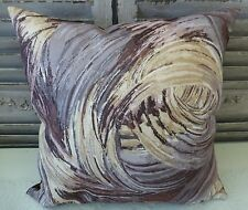 Painted Swirls browns greys and caramel cushion cover