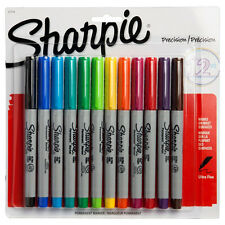 Sharpie Ultra Fine Point Permanent Markers Assorted Ink Quick Drying Pack Of 12