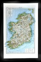 1901 Andrees Map Ireland Dublin Londonberry Tipperary Cork Kerry Galway Limerick