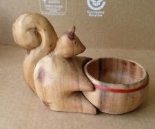 Carved Wood Nut Dish Tureen Ware