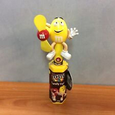 M&M's Yellow Candy Fan with Tag - Very Good Working Condition