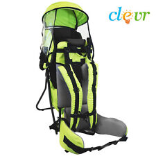 NEW Clevr Baby Backpack Cross Country Carrier Green w/ Stand Child Kid toddler