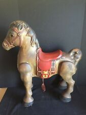 Antique Vintage Pressed Steel Toy Ride On Horse Mobo Bronco Made in England