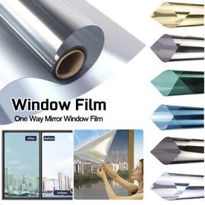 Hot One-way Mirror Blocking UV 30/40/50CM*200CM Self-adhesive Window Stickers US