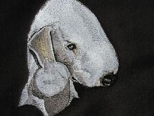 Embroidered Ladies Short-Sleeved T-Shirt - Bedlington Terrier BT3982