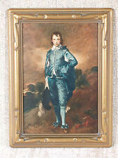 """Vtg """"The Blue Boy"""" Gainsborough, hand colored in oil by Mary-Frances Schreiber"""