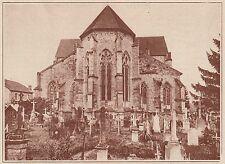 G1362 France - Rembercourt-aux-Pots - L'abside de l'église - 1935 vintage print