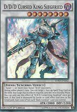 YU-GI-OH: D/D/D CURSED KING SIEGFRIED - SUPER RARE - SDPD-EN042 1ST EDITION