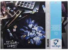 Royal Talens Van Gogh Black Water Colour Paper Block A3