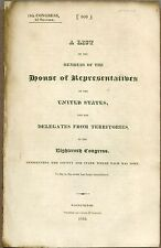 Congressional Imprint, A List of Members, House of Representatives, 1825