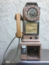 VINTAGE 3 Slot Northern Electric Rotary Public Payphone Telephone 1969 Model!