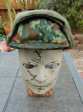 German Army Flecktarn Camo Winter Cap,Euro Size 60-U.S.7 1/2,non-issued 1997 NOS