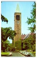1950s Library and Tower, Cornell University, Ithaca, NY Postcard