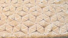Antique White Bedspread or Tablecloth Six Star or Popcorn Petal Stitch 86x60